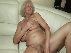 Hairy Granny Dildo First Time