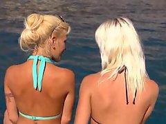 Babe Blonde Gorgeous Lesbian Skinny