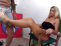 Amateur Babe Blowjob Cumshot Foot Fetish